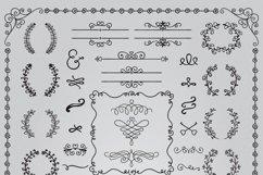 Hand Sketched Vintage Decorative Doodle Design Elements. Product Image 2