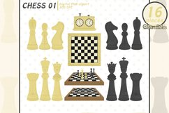 Cute CHESS clipart, Sport clipart for kids, INSTANT download Product Image 1
