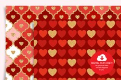 Valentines Day Digital Paper, Hearts Digital Paper Product Image 2