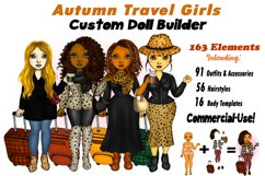 Fall Fashion &Travel Clipart DIY Best Friends Clipart PNG Product Image 1