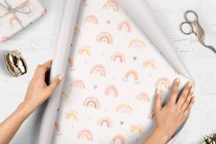 Watercolor Rainbow. Collection Patterns and Cliparts Product Image 6