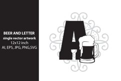 Beer, monogram letter A Product Image 1