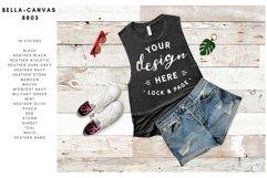 Bella Canvas TShirt Mockup Bundle Beach House Summer Style Product Image 4