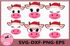 Cow SVG, Farm svg, Cow Christmas svg, Christmas svg, Calf Product Image 1