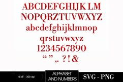 Alphabet Red, valentine, letters red, sublimation Product Image 2