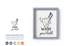 Wash Your Teeth SVG | Bathroom SVG Product Image 1