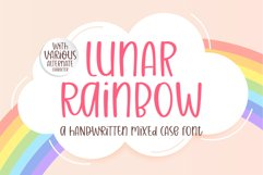 Lunar Raninbow- A handwritten mixed case font Product Image 1