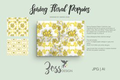 Spring Floral Poppies | Digital paper paper designs|Patterns Product Image 5