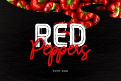 Red Peppers Font Duo Product Image 1