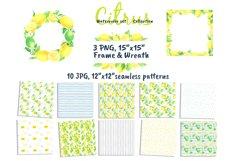 Watercolor set Lemonade Citrus Graphics Product Image 3