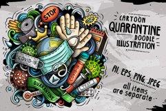 Cartoon vector doodles Quarantine illustration Product Image 1