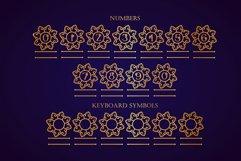 Swirly Mandala Monogram Font Product Image 8