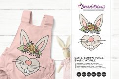 Easter Bunny SVG | Bunny Face SVG Cut File Product Image 2