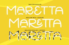 Malcow - Cute Layered Font Product Image 5