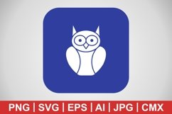 Vector Graduate Owl Icon Product Image 1
