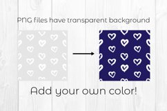 Hearts digital paper. Grunge heart clipart. Heart pattern Product Image 2