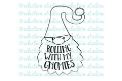 Gnome SVG, Rolling with my Gnomies, Funny Gnome SVG Product Image 2