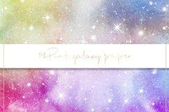 Galaxy watercolor digital paper Product Image 3