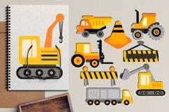 Transportation vehicles clip art graphics bundle Product Image 3