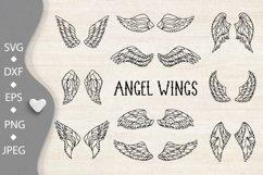Wings bundle svg. Angel wings clipart. Fairy wings cut files Product Image 3