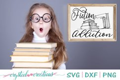 Fiction addiction SVG, DXF, PNG Product Image 1