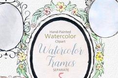 digital watercolor frames clipart watercolor png frames Product Image 2