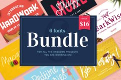 Font Bundle / 6 Awesome Fonts in a Bundle Deal Product Image 1