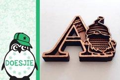 Gnome letters 3D multi layer mandala layered alphabet bundle Product Image 5