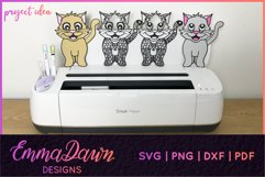 CLEO THE CAT SVG 6 MANDALA / ZENTANGLE DESIGNS Product Image 2