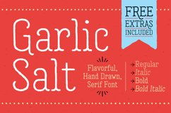 Garlic Salt Font Family Product Image 1
