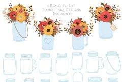 Fall Mason Jar Wedding Clipart - Autumn Wedding Graphics Product Image 4