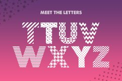 Pattern Silhouette Font Product Image 4