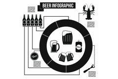Beer infographic, simple style Product Image 1