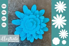 Paper Flower Template Bundle | Paper Cutting Bundle SVG Product Image 10