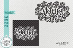 Mama Mothers Day card paper cut template svg dxf Product Image 2