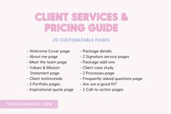Client Services and Pricing Guide Canva Template Product Image 5