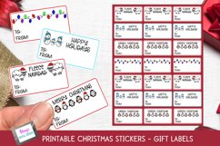 Christmas Stickers - Print and Cut Gift Stickers - Gift Tags Product Image 1