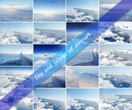20 Photos clouds and wings of airplanes Product Image 1