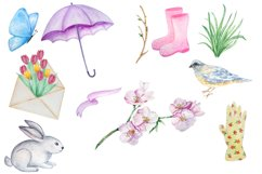 Watercolor Spring Clipart Set Product Image 2