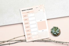 Daily - Weekly - Monthly Planner Sheet Product Image 5
