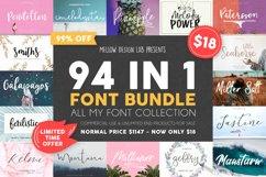 94 IN 1 Font Bundle SALE Product Image 1