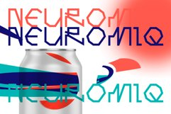 Computer line decorative font. Neuromiq. Product Image 1