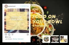 Instagram Post Template - Food On Your Bowl Product Image 1