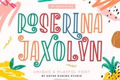 Playful Decorative Font - Roserina Jaxolyn Product Image 1