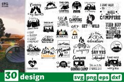 Camping SVG Bundle| Hiking Cut File | Silhouette Product Image 3