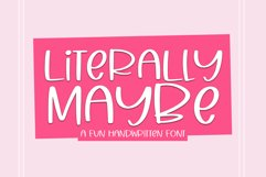 Literally Maybe - A Fun Handwritten Font Product Image 1