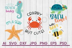 Baby Ocean SVG Bundle, DXF File, Cuttable File Product Image 1