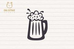 St. Patricks day svg, Leprechaun, Leprechaun with Beer Mug Product Image 6