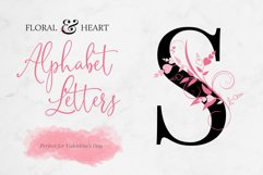 Floral & Heart Alphabet Product Image 1