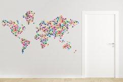 Classic kids hand prints rainbow map Product Image 3